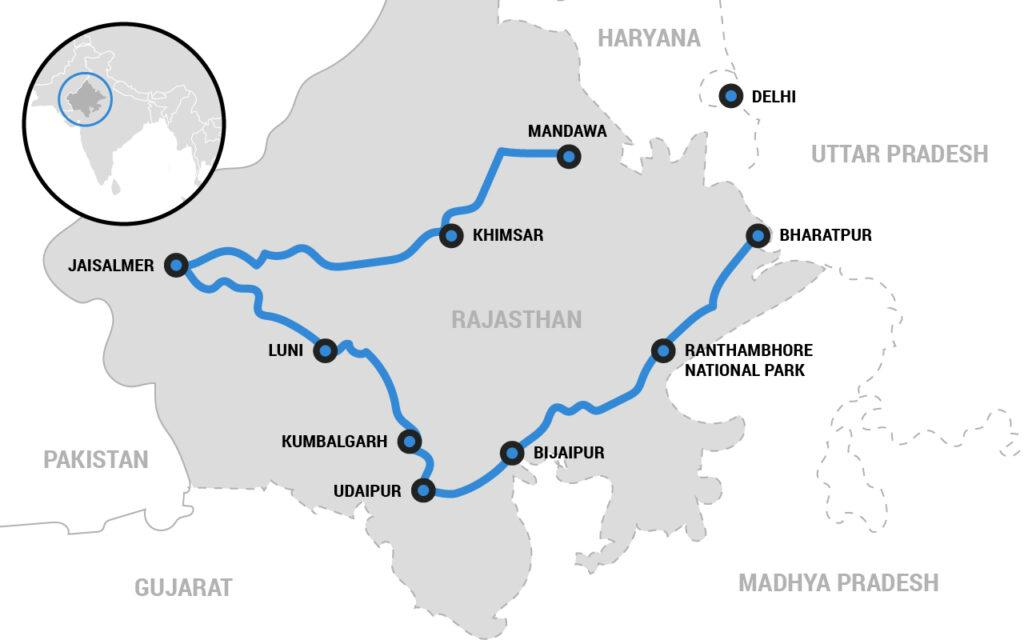 Bhutan motorcycle tour map